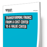 Harvard Business Review - Transforming Finance into a Value Center