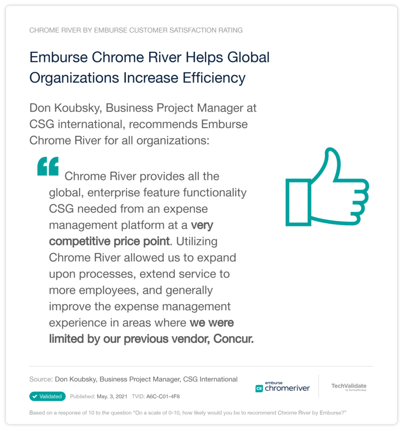 Increase Efficiency with Chrome River